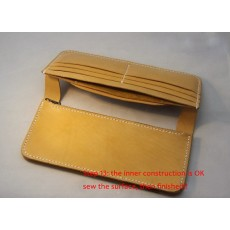 How to make a long wallet? Not for selling, don't buy it or you will bankrupt