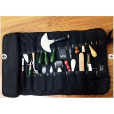 Everything in it. leather tool bag, scroll bag, put all your tools in it, tool case, tool box